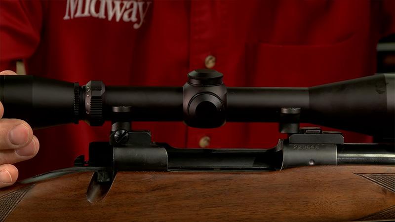 mount scope on rifle