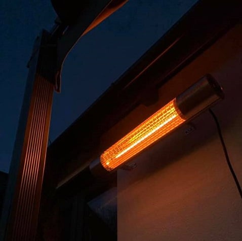 wall mounted patio heater california 2000w includes remote