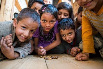 The children of Kalap are the liveliest, most affectionate bunch. Photo Courtesy Swati Chauhan/ The Outdoor Journal
