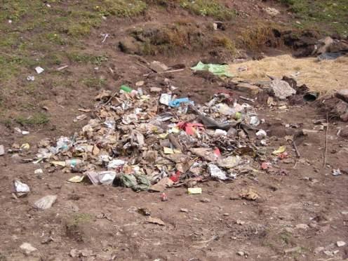 Trash that is courtesy of mass trekking himalaya