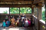 The children gathered together in the 'ring hall' for their after-school lesson on seasons with their teacher Ashwini. Photo Courtesy Swati Chauhan/ The Outdoor Journal