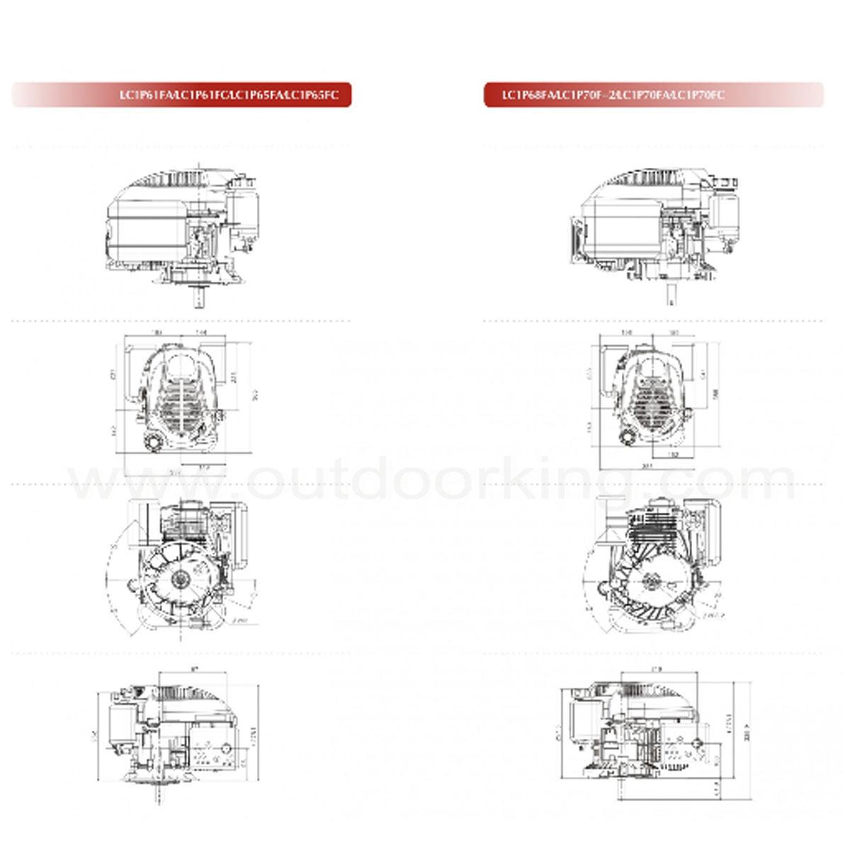 Loncin Genuine Lc1p65fc Engine Lc1p65fc