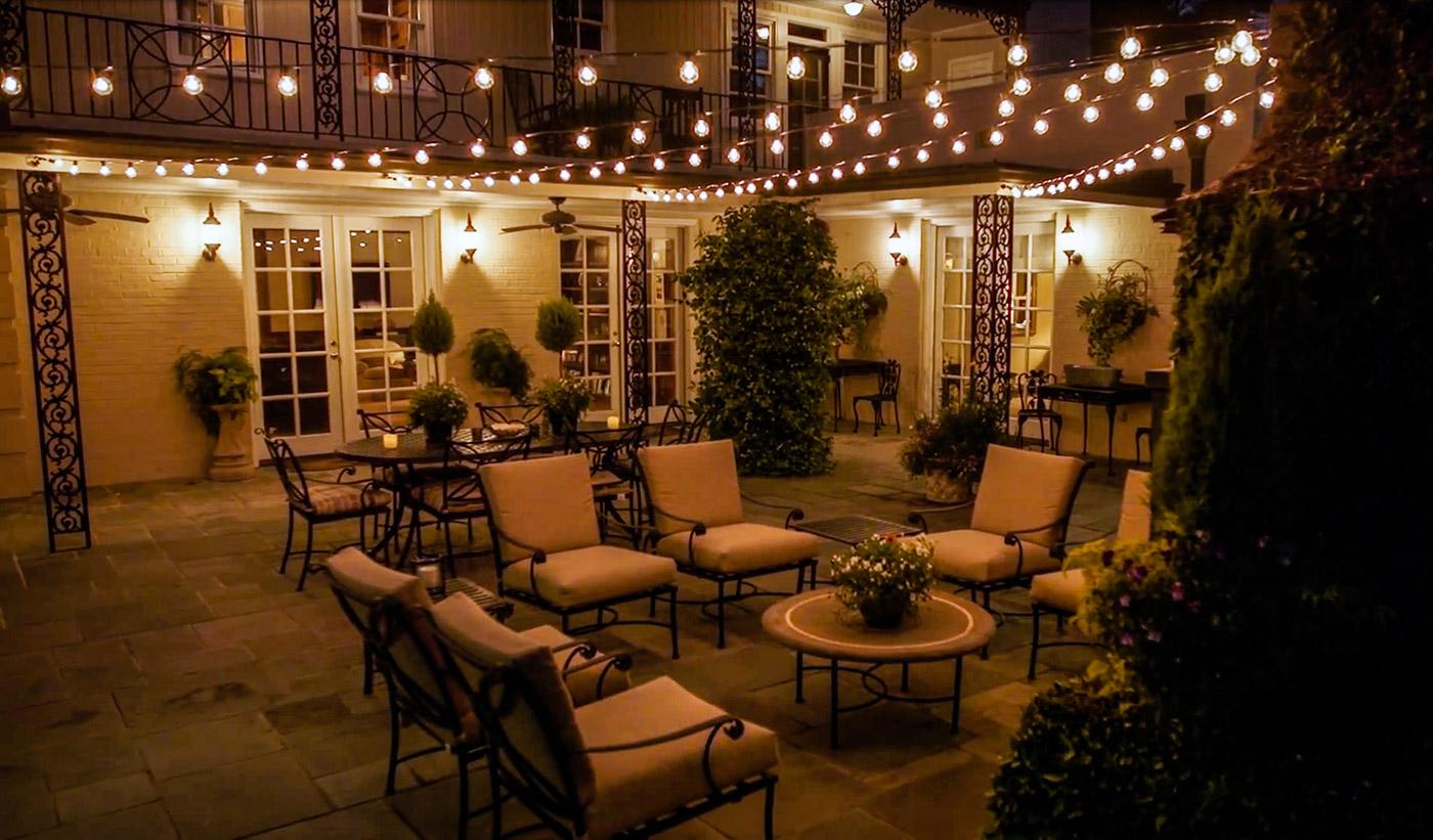 permanent string lighting outdoor
