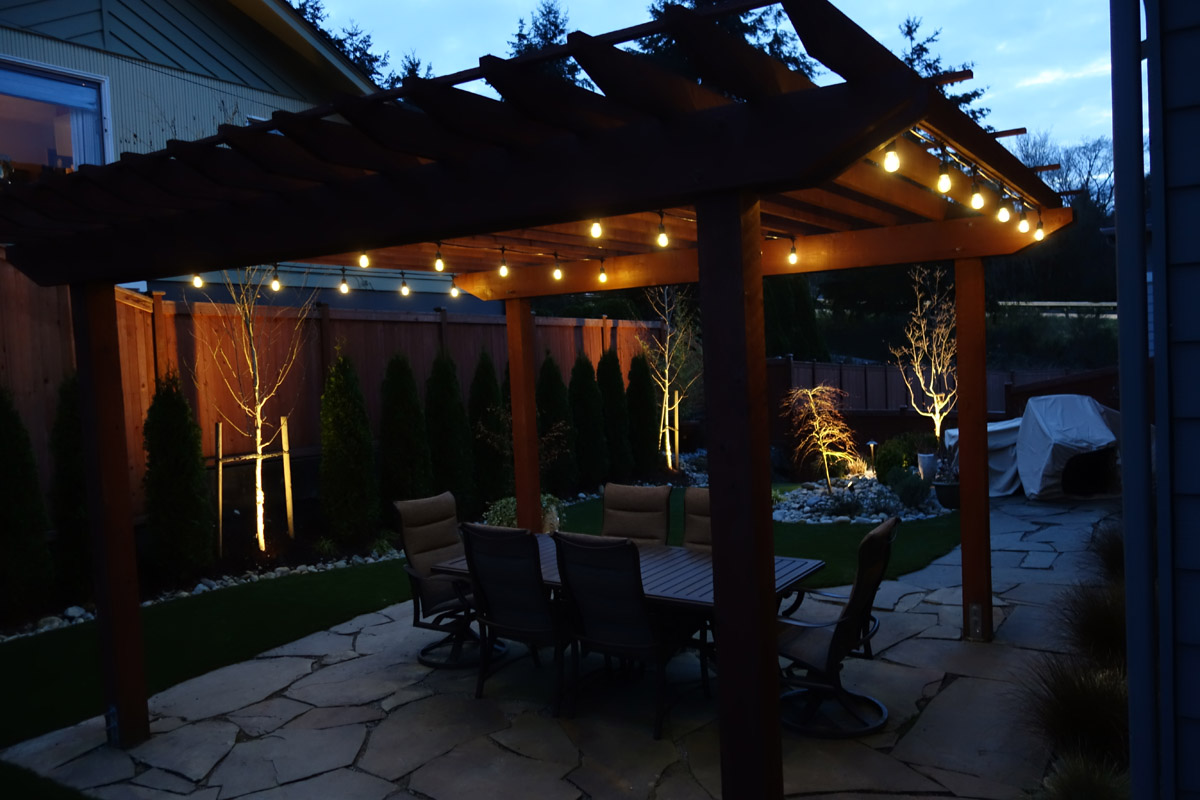 pavilion porch pergola lighting