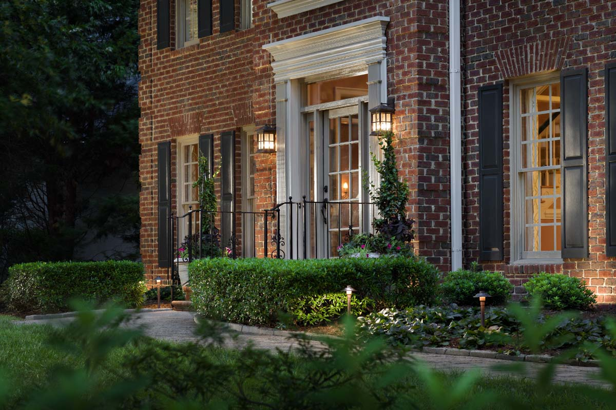 exterior home lighting for brick houses in st louis