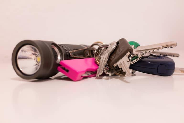 Mini-Taschenlampe-Schlüsselanhänger