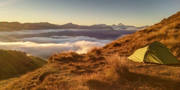 Zelt in freier Natur