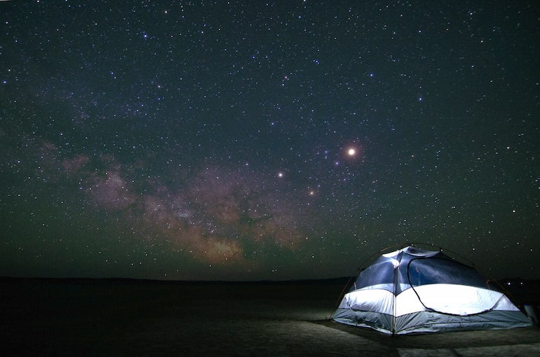 Camping-Abgeschiedenheit