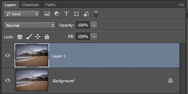 Photoshop showing new layer