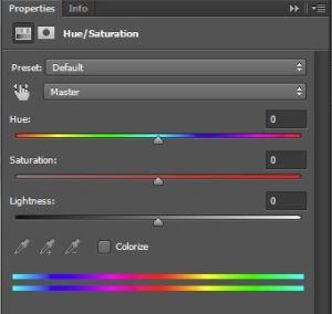 Hue - Saturation Adjustment Layer