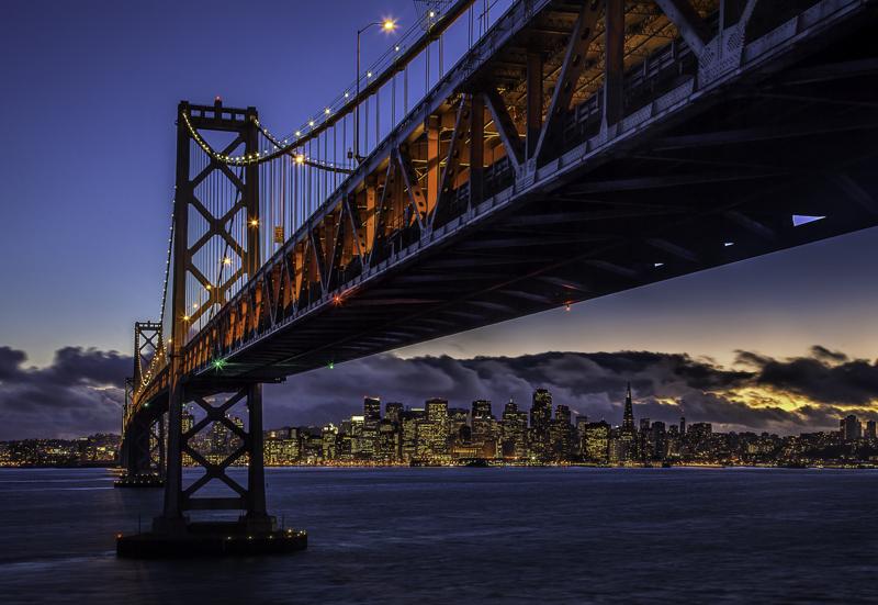 Travel planning : Shot of San Francisco from Treasure Island