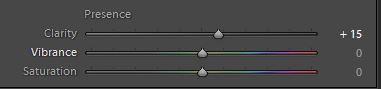 Input Sharpening via the Clarity slider