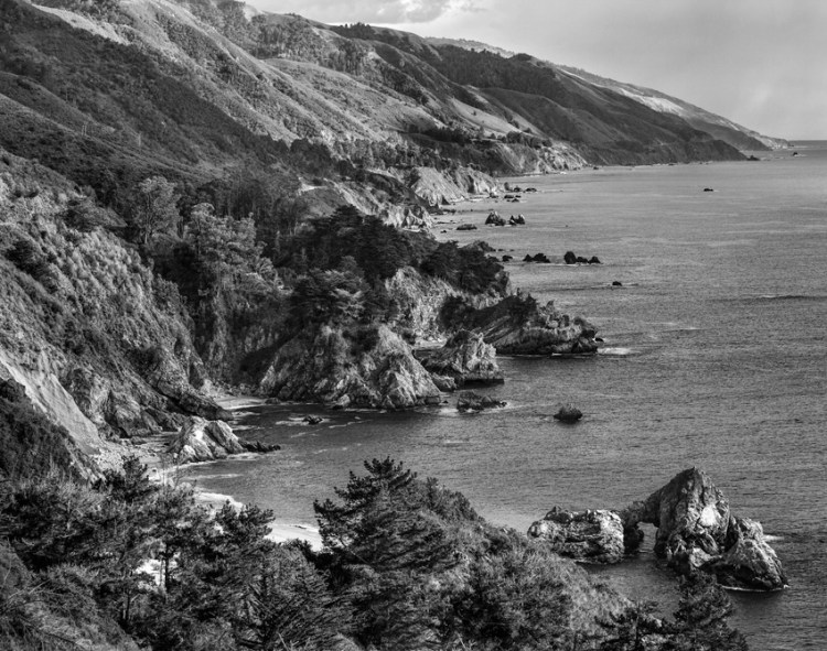Big Sur - Example of black and white photography