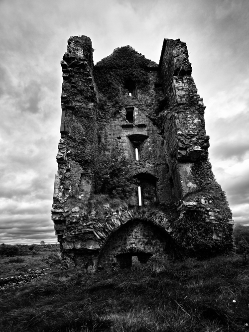 Cloondooan Castle - Example of black and white photography