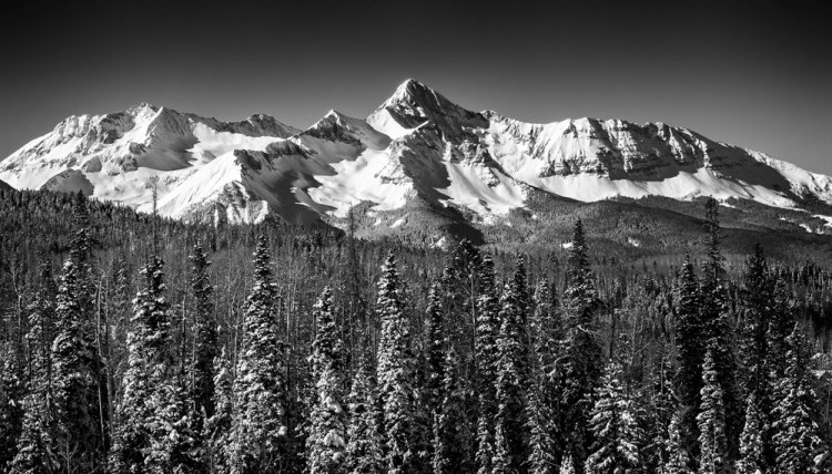 The Mountain - Example of black and white photography