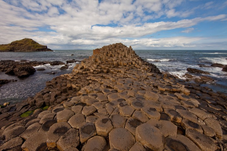 Hexagonal stones of Giant's Causeway