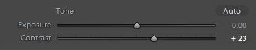 Lightroom's contrast slider - which is actually a sharpening tool