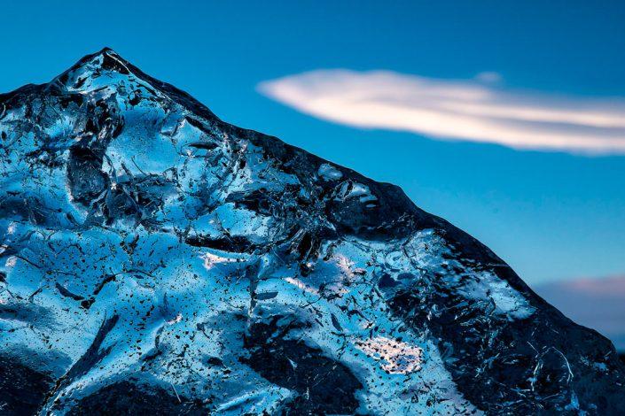 Jökulsárlón, Iceland, close-up of ice