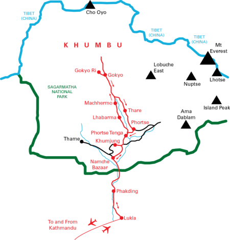 nepal photo workshop map