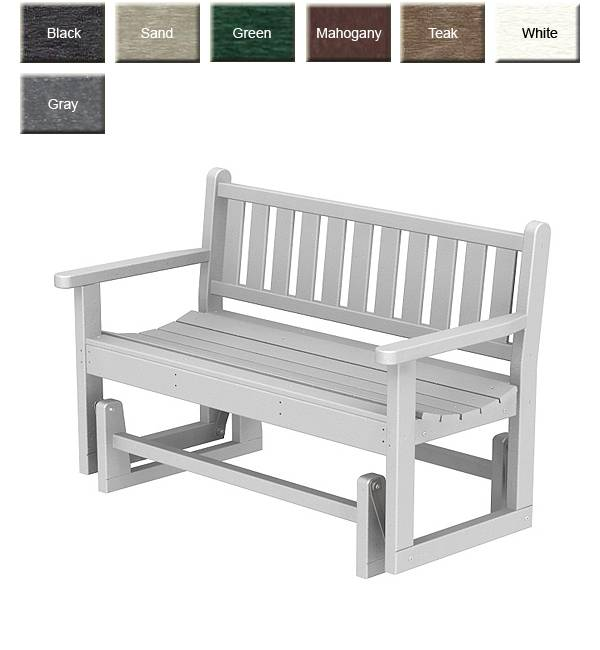 polywood traditional glider bench
