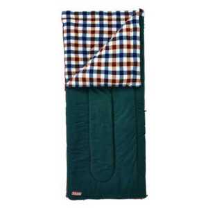 Coleman Fleece EZ Carry Sleeping Bag C5 brown check