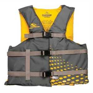 Stearns PFD 2001 Adult Universal Classic Nylon Life Vest Universal gold