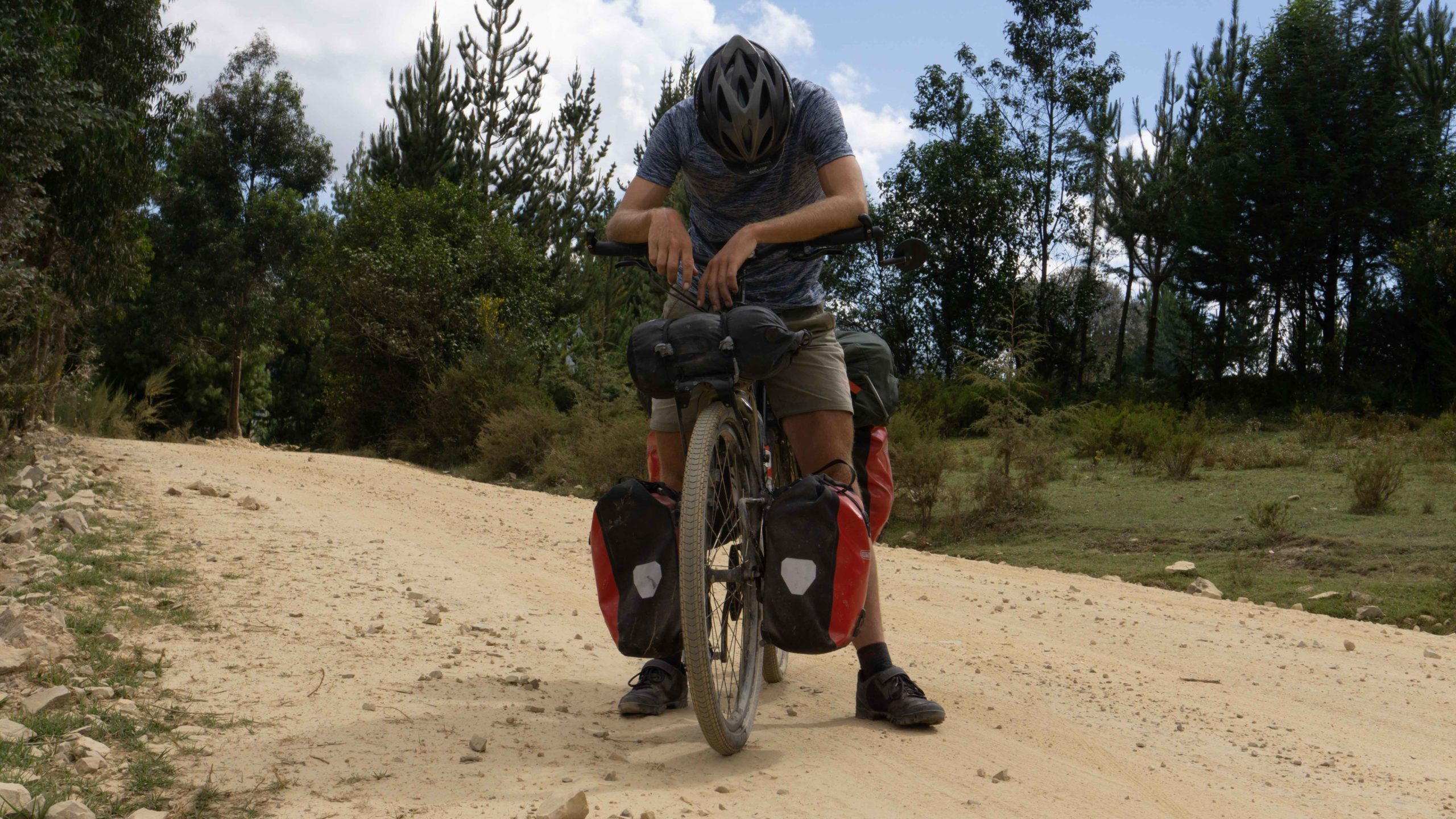 bikepacking or bicycle touring