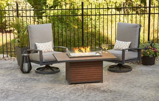 fire pits for small backyard spaces