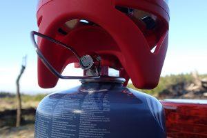 Gasregler am Kochsystem