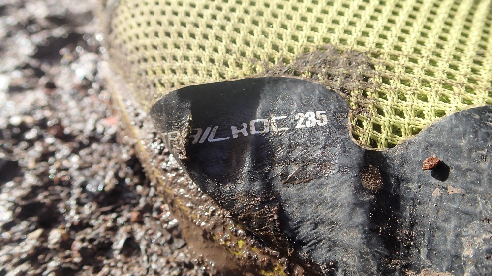 Trialroc 235 in a muddy trail run