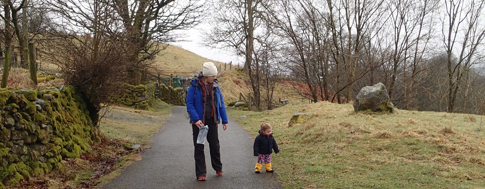 Even 15 months old can hike in the Lake District