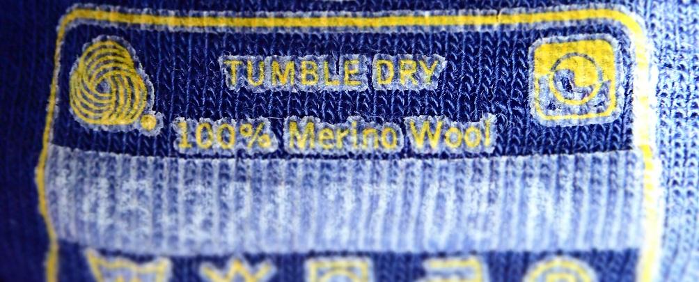 Merino Wool tag