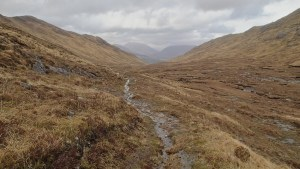 A boggy path after the climb from Cona Glen to Glenfinnan