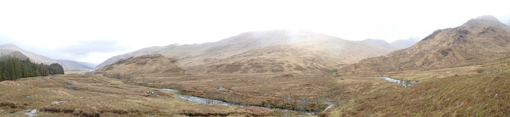 Coming down from the Streap to to Glen Pean