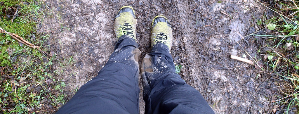Muddy trails are no match for the Ibex pants