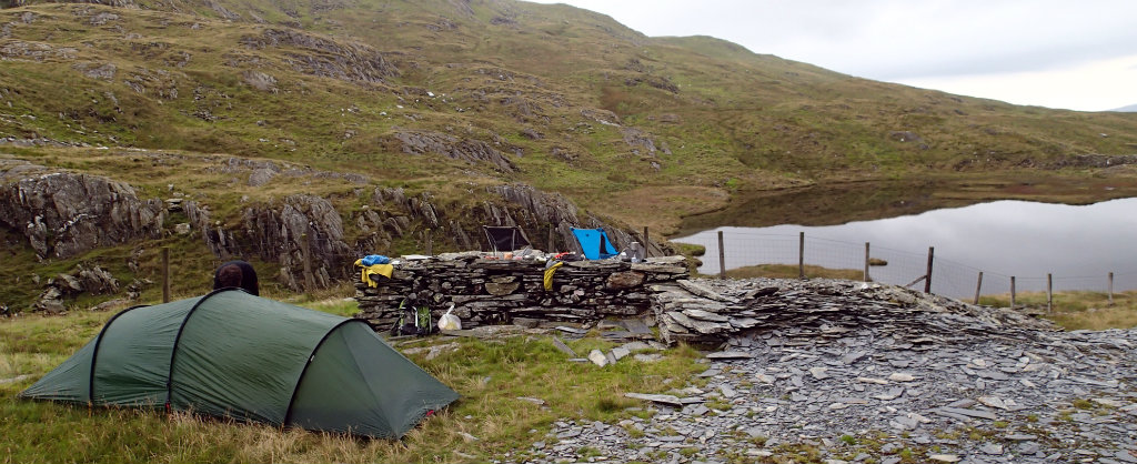 Perfect camp spot next to Blwch Cwm Llan