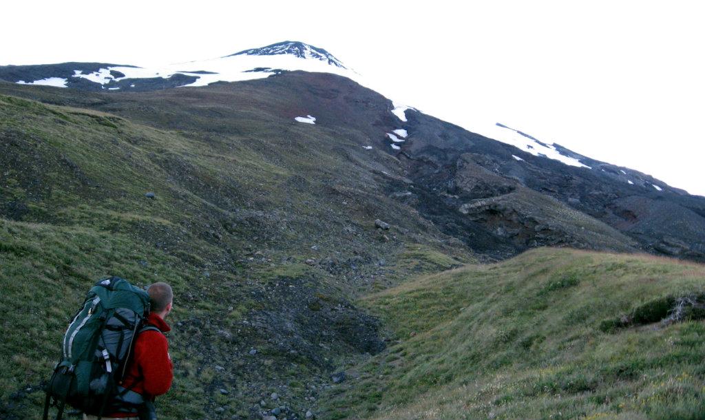 Walking in the shadow of Mount Villarica