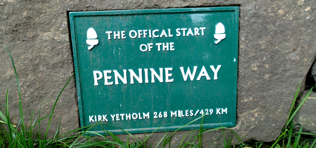 The official start of the Pennine Way