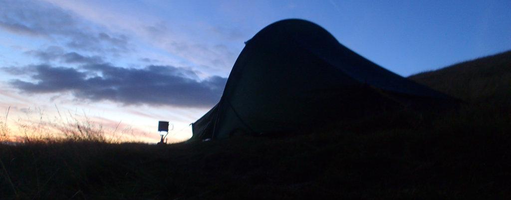 Blissful camp near Wessenden Resorvoir