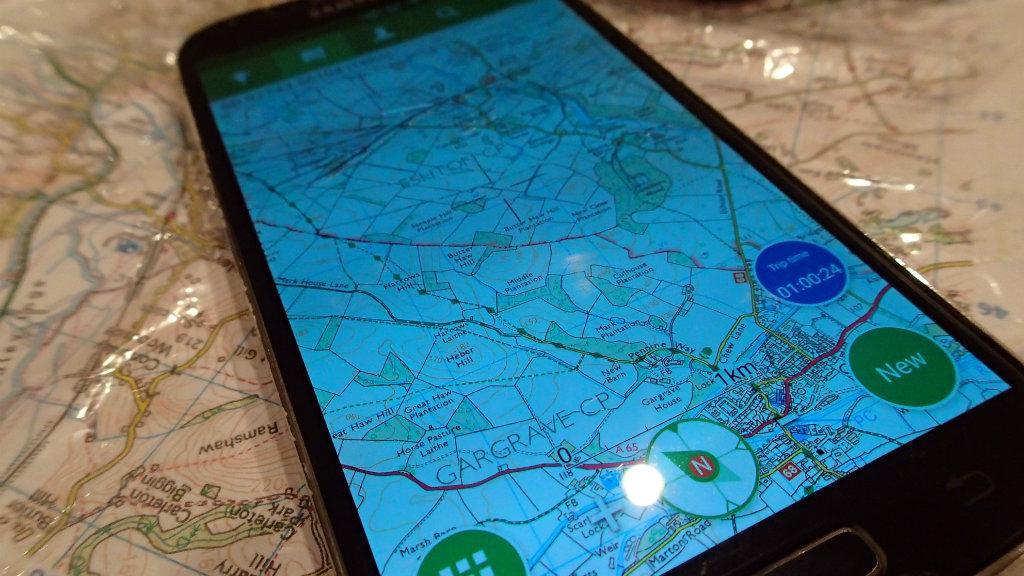 Samsung Galaxy featuring Viewranger app