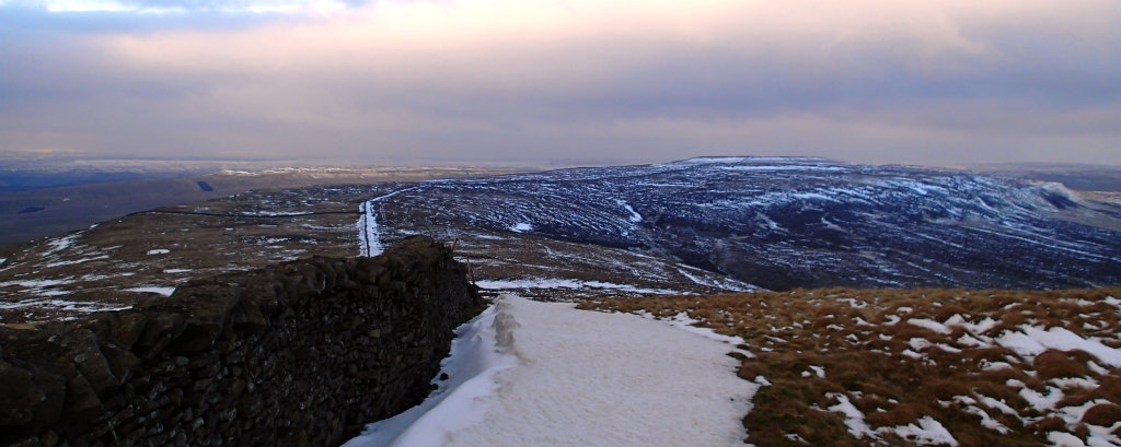 Unexpected snow on Pen-y-Ghent, England - easy to deal with if you are prepared
