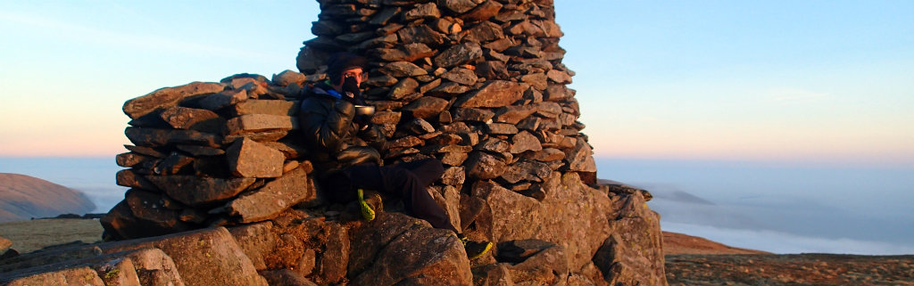 Using the right insulation to avoid the loss of too much energy - sunset on High Street, Lake district