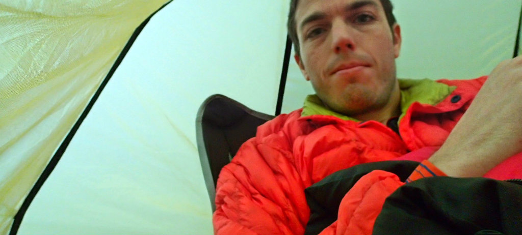 Thin down for less cold but dry conditions or for camping