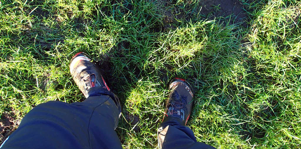 Wet and muddy fields underfoot