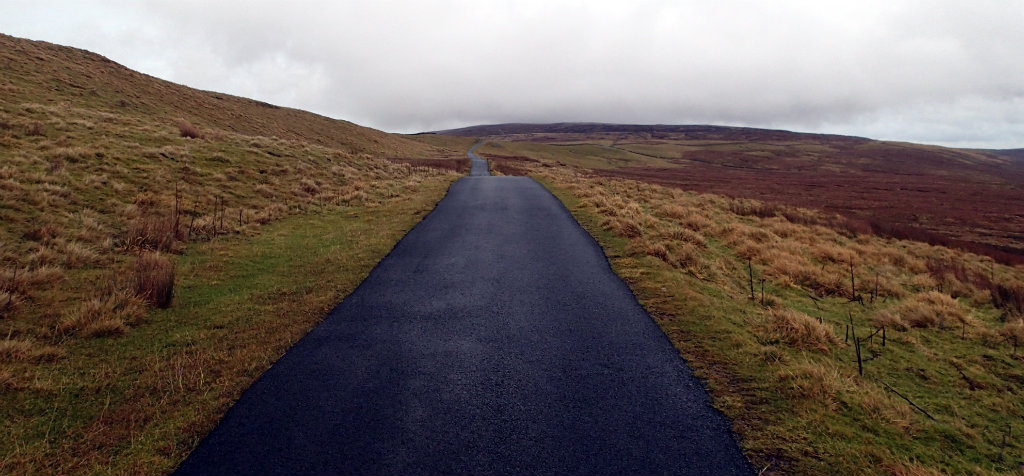 Unexpected tarmac on the Pennine Way