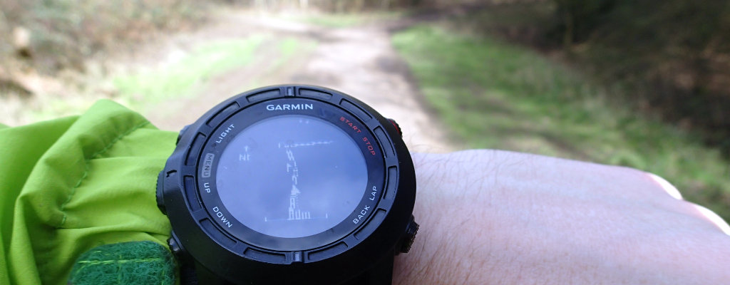 Using a GPS watch for navigation