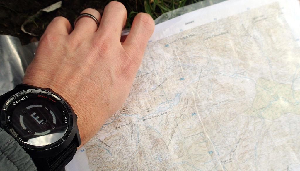 Even the best watch will need a map for backup