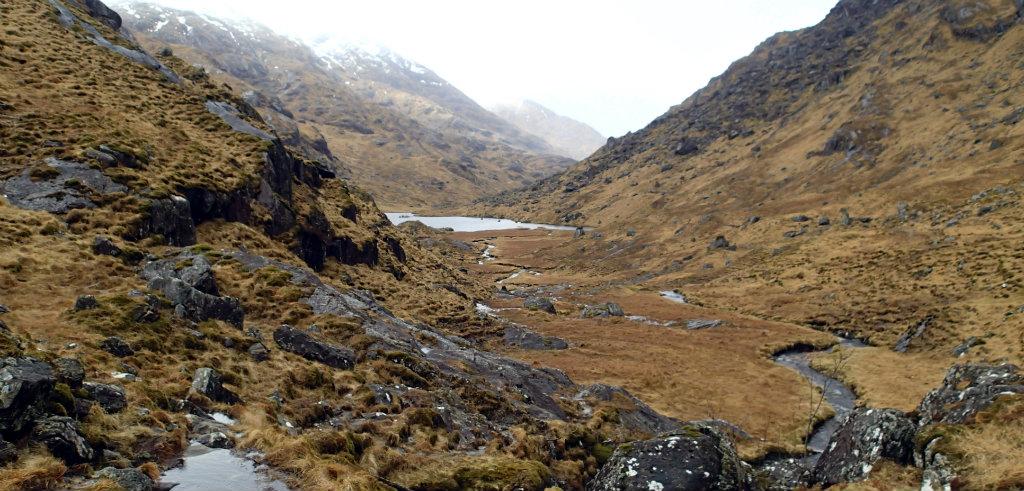 The two lochans at Mam na Cloich 'airde
