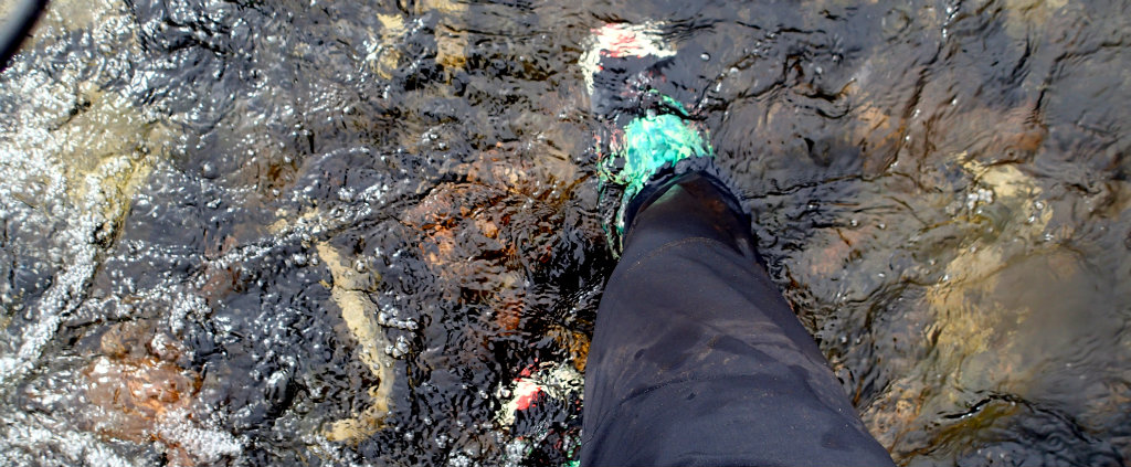 In wet conditions, wet feet are almost unavoidable