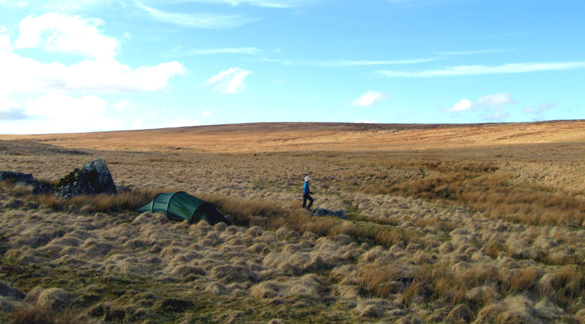Beautiful wild camping spot at Dartmoor